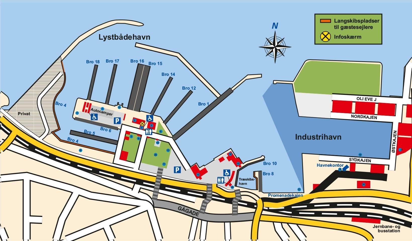 Bro oversigt Holstebro-Struer Havn